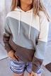new women's loose tie-dye printing hooded long-sleeved sweater NSYF1129