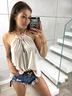 Summer New Ladies Halter Fashion Vest T-shirt  NSYF1134