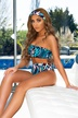 Hot selling fashion bikini ladies split swimsuit one-shoulder snake print series NSDA1224