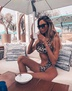 one-shoulder hot style swimsuit ladies sexy hollow gathered leopard bandage one-piece swimsuit NSDA1276