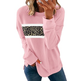 Autumn And Winter New Leopard Print Long-sleeved Round Neck Casual Sweatshirt NSKX27612