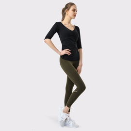 Lace Drawstring Middle-sleeved Top Hip-lifting Pants Fitness Set NSDS27697