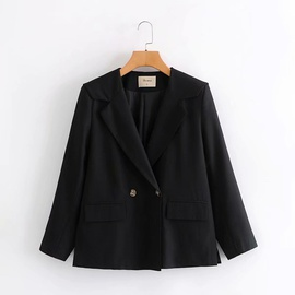 Navy Collar Short Black Small Suit  NSAM27829