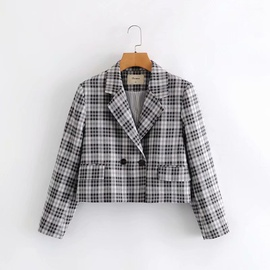 Plaid Houndstooth Suit   NSAM27831