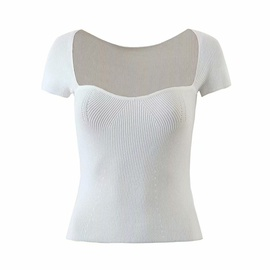 Sexy Low-neck Short-sleeved Sweater NSAM27837