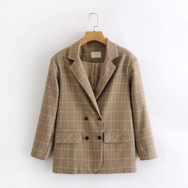 Spring And Autumn Fashion Casual Checked Small Suit   NSAM27845