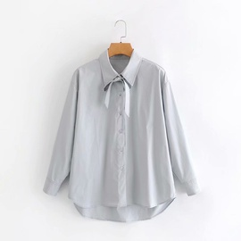 Loose Bow Tie Shirt  NSAM27858