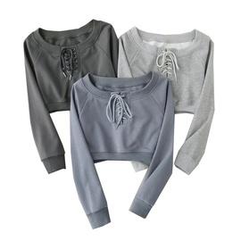 Chest Drawstring Spring And Autumn New Sexy Short Sweatshirt NSLD27865