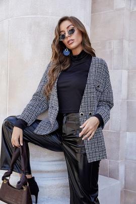 Loose Long-sleeved Woolen Coat NSLM27925