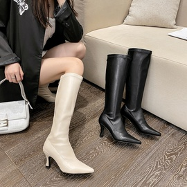 High-heeled Stovepipe Knight Boots  NSCA28053