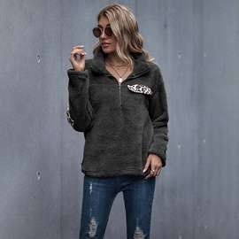 Spring New Fashion Loose Hedging High-neck Solid Color Sweatshirt NSDF28100