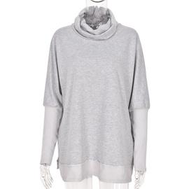 Winter Stitching Contrast Bottoming Shirt  NSKL28115