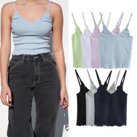 Casual Fashion Simple Halter Slim Camisole NSLD28328