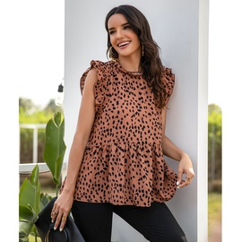 Casual Wave Point Sleeveless Top  NSSA28591