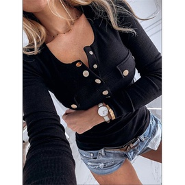 Autumn And Winter Solid Color Long-sleeved Bottoming Shirt Sweater  NSZH28741