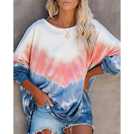 New Style Print Round Neck Long Sleeve Casual Loose Sweatshirt NSZH28750