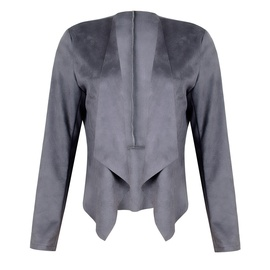 Lapel Solid Color Imitation Deerskin Coat NSZH28755