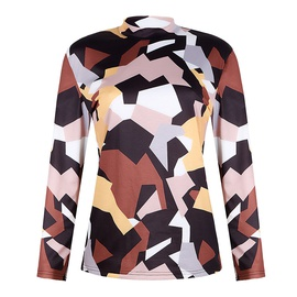 Autumn And Winter New Style Loose High Collar Printed Sweatshirt NSZH28761