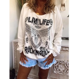 Autumn And Winter New Style Loose Round Neck Printed Sweatshirt NSZH28770