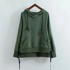 Fashion Irregular Hem Lace-up Casual Sweatshirt NSLD28890