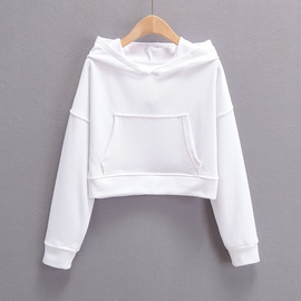 Autumn New Leisure All-match Style Solid Color Hooded Sweatshirt NSLD28893