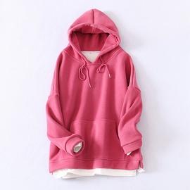 Casual All-match Fashion Stitching Sweatshirt NSLD28903
