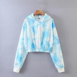 Fashion Letter Embroidery Long-sleeved Hooded Sweatshirt NSLD28919