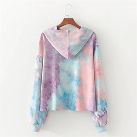 Casual All-match Hooded Autumn And Winter New Loose Thin Tie-dye Sweatshirt NSLD28926