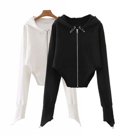 Fashion Casual Stitch Design Short Sweatshirt NSLD28939