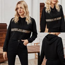 Splicing Casual Hooded Fashion Autumn Loose Thin All-match Sweatshirt NSLM28974