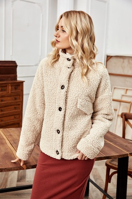 Double-sided Cashmere Single-breasted Short Jacket NSLM28992