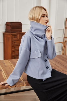 All-match Fashion Short Thick Woolen Coat NSLM28995