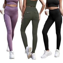 Multi-pocket High-waist Hip-lifting Fitness Pants  NSLM29002