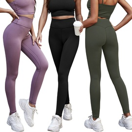 Nude High Waist Stretch Hip-lifting Fitness Pants NSLM29003