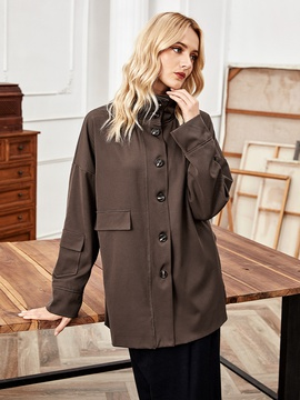 Fashion Stand-up Collar Single-breasted Jacket NSLM29041