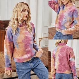 Autumn And Winter Long-sleeved High-neck Tie-dye Sweatshirt NSLM29043