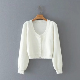 Loose Single-breasted Short Cardigan  NSHS29085