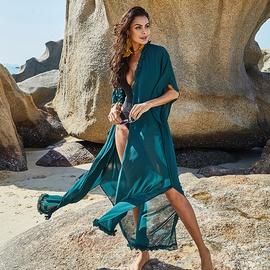 Sexy See-through Long Chiffon Sunscreen Beach Skirt NSLM29107