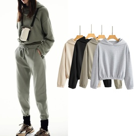Spring And Autumn New Loose Thin Solid Color Sweatshirt NSLD29200