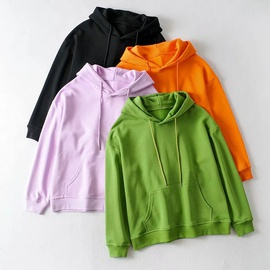 Drawstring Hoodie Autumn And Winter New Four-color Loose Hooded Sweatshirt NSHS29411