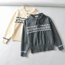 Spring And Summer Contrast Stitching Pullover Sweater NSHS29416