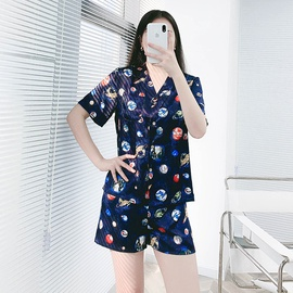 Summer Thin Short-sleeved Shorts Casual Home Service  NSJO29516