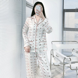 New Spring And Autumn Long-sleeved Casual Letter Printing Home Suit NSJO29529