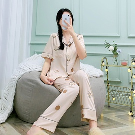 New Silk Spring And Summer Short-sleeved Trousers Home Service  NSJO29533