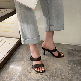 Spring And Summer Fashion Velcro High-heel Slippers  NSHU29706