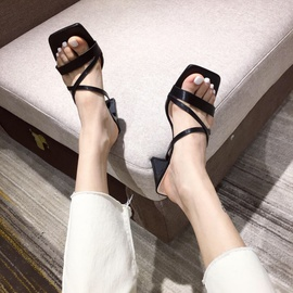 Spring And Summer Fashion Thick-heeled Slippers   NSHU29715