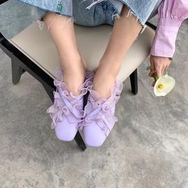 Fashion Sexy Heel Flat Lace Shoes NSHU29725