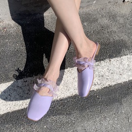 Fashion Lace Flat-bottomed Half Slippers  NSHU29741