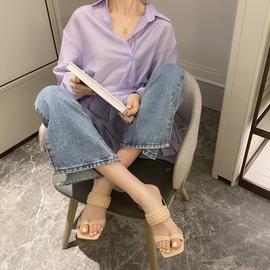 Fashion Woven High Heels Sandals  NSHU29756