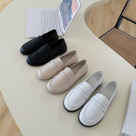 Spring And Summer One-pedal Flat Bottom Fashion Small Leather Shoes  NSHU29762